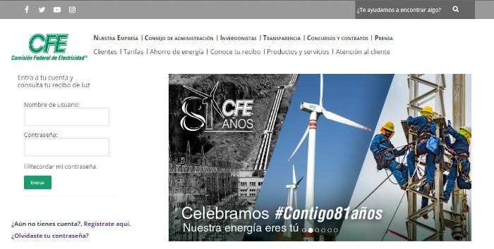 portal web oficial